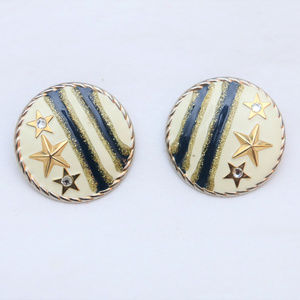 "Jewelry - 80's Vintage ""STAR STUDDED"" Fancy Earrings"